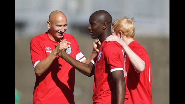 Jonjo Shelvey, Benik Afobe and Luke Williams.