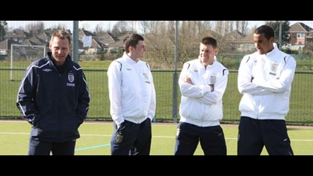 Stuart Pearce and Under-21 players
