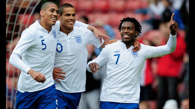Chris Smalling, Jack Rodwell, Daniel Sturridge, England Under-21s v Norway