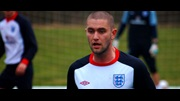 Henri Lansbury, England Under-21s training