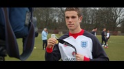 England Under-21s captain Jordan Henderson with his Carling Cup winners' medal for Liverpool