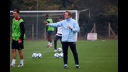 England Under-21s coach Stuart Pearce at Ipswich Town's training ground