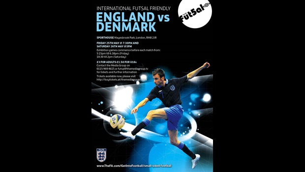 England v Denmark, Futsal International