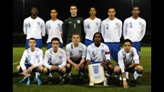 The England U16 team line up before their game against Wales in October 2010.