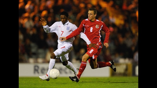 Matthias Fanimo in action for England U16s against Wales in October 2009.