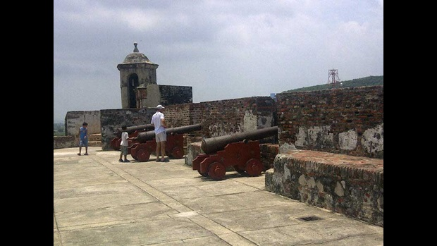 The cannons of Cartagena.