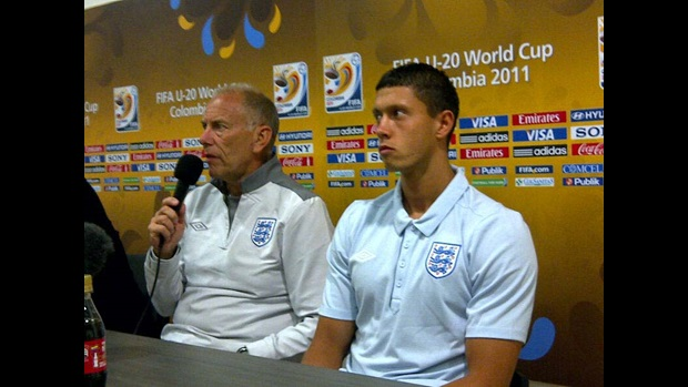 Brian Eastick and Jason Lowe speak at a World Cup press conference.