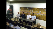 Brian Eastick and Jason Lowe speak to the Colombian press ahead of their World Cup opener.