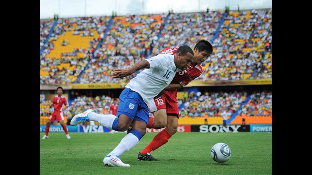 Matt Phillips in action against Korea DPR at the FIFA U20 World Cup in Medellin, Colombia.