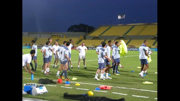 The England U20 players train in Cartagena.
