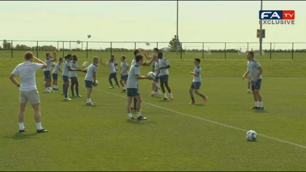 England U20s train in Denver, Colorado.