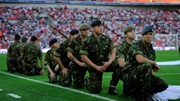 Troops at Wembley Stadium