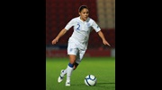 Alex Scott in action against Serbia.