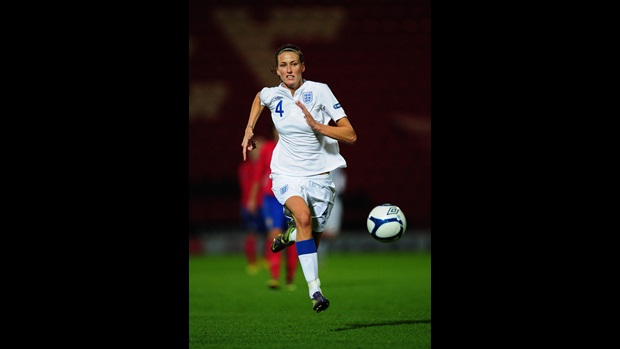 Jill Scott in action against Serbia.