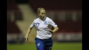 Dani Buet in action for England against Slovenia.