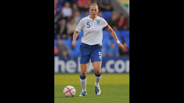 Faye White in action against Switzerland.