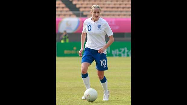 Kelly Smith in action during The Peace Cup.
