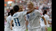 Ellen White celebrates her goal against Japan in the 2011 World Cup.