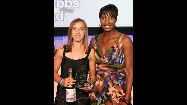 Jordan Nobbs and Denise Lewis