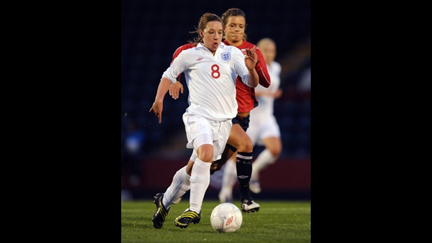 Jordan Nobbs in action.