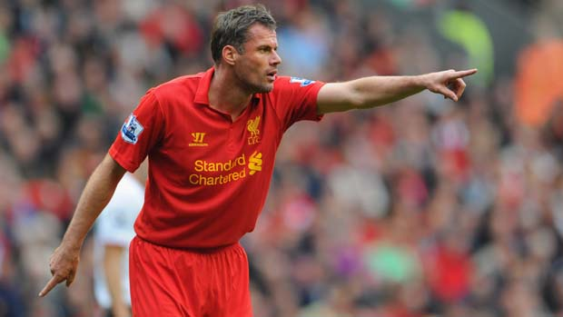 Liverpool defender Jamie Carragher.