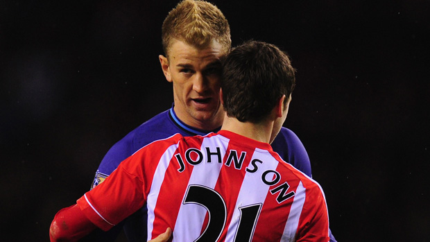 Joe Hart and Adam Johnson