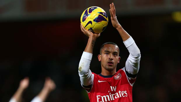 Arsenal's Theo Walcott after his hat-trick against Newcastle United