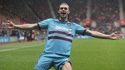Andy Carroll celebrates against Southampton