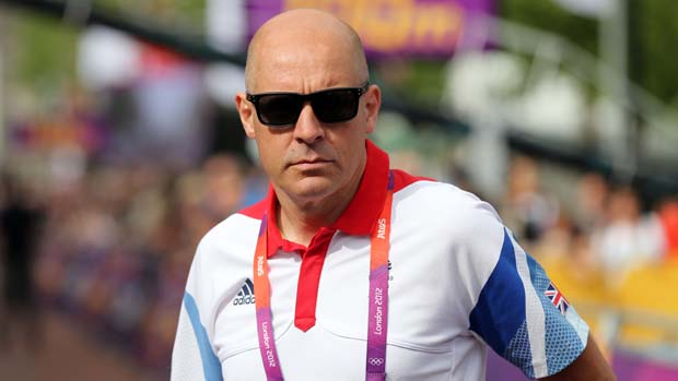 British Cycling Performance Director Sir David Brailsford during the London 2012 Olympics.