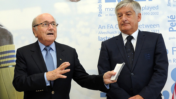 Sepp Blatter and David Bernstein at St. George's Park