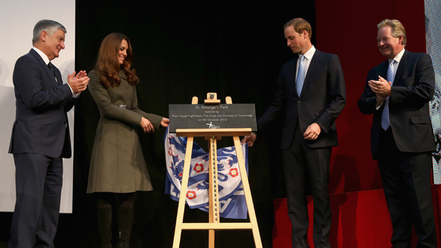 Duke and Duchess of Cambridge officially open St. George's Park