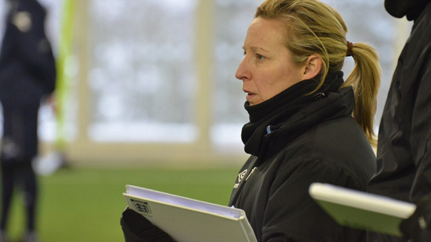 England Women's U17 Head Coach Lois Fidler on the UEFA Pro Licence at St. George's Park