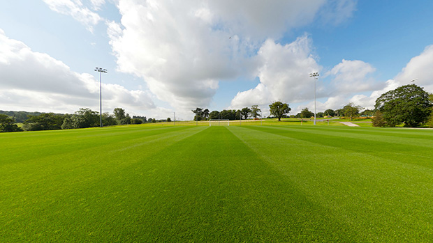 Football pitch at St. George's Park