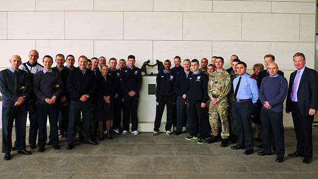 Royal Air Force FA meet with England players during St. George's Park visit