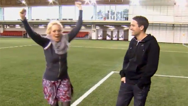 Michael Owen takes Soccer AM's Helen Chamberlain for a tour around St. George's Park.