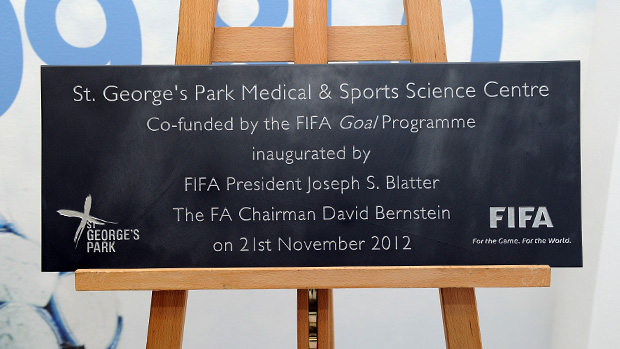 FIFA Goal Plaque at SGP