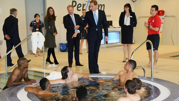 The Duke and Duchess of Cambridge in SGP Gym
