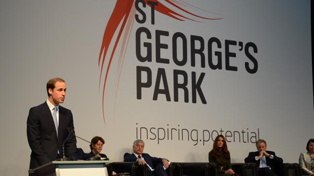 Duke of Cambridge speaks at SGP