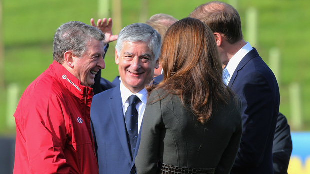Roy Hodgson, David Bernstein and the Duke and Duchess of Cambridge