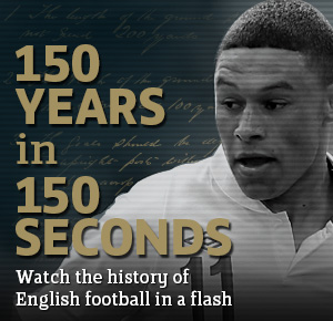 Watch the FATV video as Alex Oxlade-Chamberlain reviews The FA's 150 year history in 150 seconds