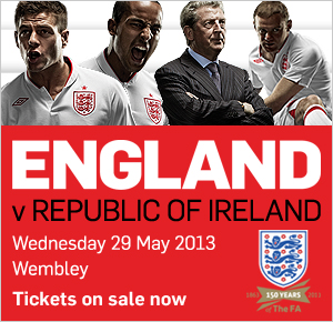 Tickets for sale - England v Ireland - 29 May 2013