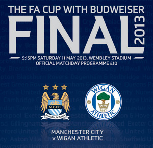The FA Cup with Budweiser Final Match Programme