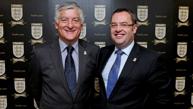 FA Chairman David Bernstein and General Secretary Alex Horne