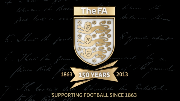 The Football Association's 150th anniversary crest