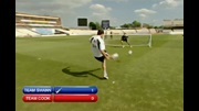 England Cricket Team penalty shootout