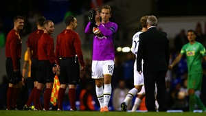 Kane hit a hat-trick before donning the gloves